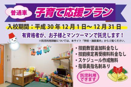 普通車・子育て応援プラン【H30.12.1~12.31】