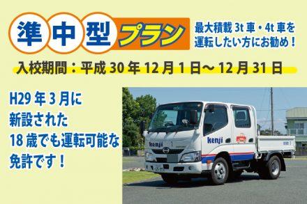 準中型・各種プラン【H30.12.1~12.31】